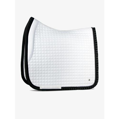 ps-of-sweden-white/black-ruffle-saddle-pad