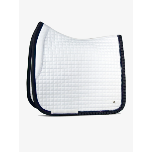 ps-of-sweden-white/navy-ruffle-saddle-pad