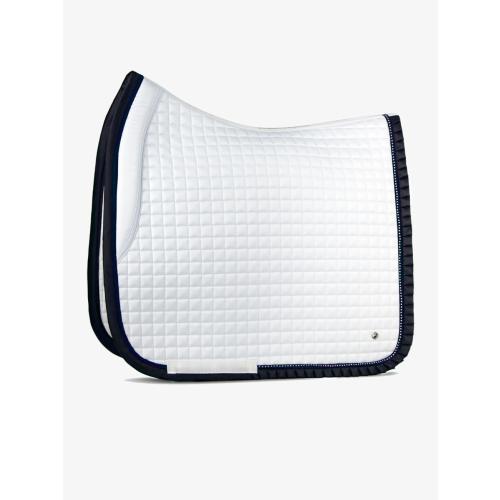 ps-of-sweden-white/navy-ruffle-saddle-pad
